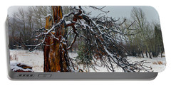 Portable Battery Charger featuring the photograph One Branch Left by Shane Bechler
