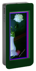 One Carnation And One Rose Bud Portable Battery Charger