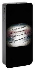 Portable Battery Charger featuring the photograph One Day.... by Trish Mistric