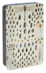 One Hundred And Fifty Insects, Dominated At The Top By A Large Dragonfly Portable Battery Charger by Marian Ellis Rowan