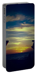 Portable Battery Charger featuring the photograph One Last Glimpse by DigiArt Diaries by Vicky B Fuller