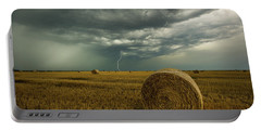 Portable Battery Charger featuring the photograph One More Time A Round by Aaron J Groen