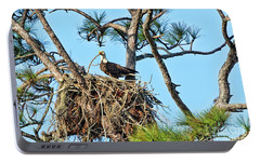 Portable Battery Charger featuring the photograph One More Twig by Deborah Benoit