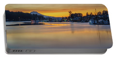 One Morning In Gig Harbor Portable Battery Charger by Ken Stanback
