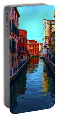 one of the many beautiful old Venetian canals on a Sunny summer day Portable Battery Charger