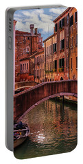 One Of The Many Canals Of Venice Portable Battery Charger