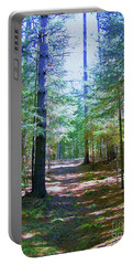 Portable Battery Charger featuring the photograph One Path by Shirley Moravec