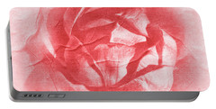 One Perfect Rose Portable Battery Charger by Iryna Goodall