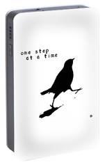 Portable Battery Charger featuring the painting One Step At A Time Wee Bird by Lisa Weedn