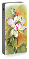 Portable Battery Charger featuring the painting One Sunny Day by Anna Ewa Miarczynska