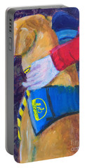 Portable Battery Charger featuring the painting One Team Two Heroes 3 by Donald J Ryker III