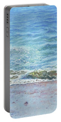Portable Battery Charger featuring the painting One Wave by Martin Davey