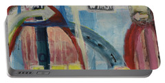 Portable Battery Charger featuring the painting One Way To 7th Street by Susan Stone