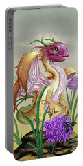 Portable Battery Charger featuring the digital art Onion Dragon by Stanley Morrison