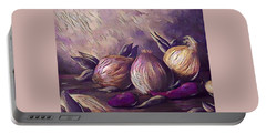 Onions And Peppers Digital Portable Battery Charger by Megan Walsh