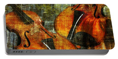 Only Music Heals A Broken Heart Portable Battery Charger by LemonArt Photography