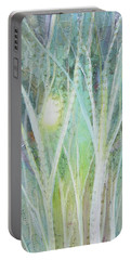 Portable Battery Charger featuring the painting Opalescent Twilight I by Shadia Derbyshire