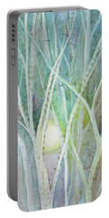 Portable Battery Charger featuring the painting Opalescent Twilight II by Shadia Derbyshire
