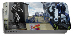 Portable Battery Charger featuring the photograph Operation Motorman Mural In Derry by RicardMN Photography