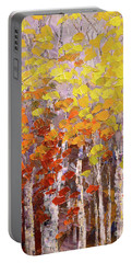 Portable Battery Charger featuring the painting Operation October by Tatiana Iliina