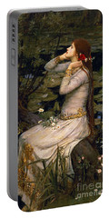 Ophelia Portable Battery Charger by John William Waterhouse