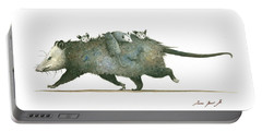 Opossum Family Portable Battery Charger