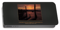 Portable Battery Charger featuring the photograph Opportunities Present Themselves With Every New Day by Donna Corless
