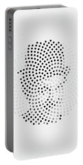 Portable Battery Charger featuring the digital art Optical Illusions - Iconical People 2 by Klara Acel