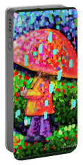 Rainy Day Stroll Portable Battery Charger