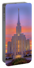 Portable Battery Charger featuring the photograph Oquirrh Mountain Temple IIi by Chad Dutson