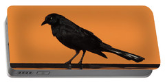 Orange And Black Bird Portable Battery Charger