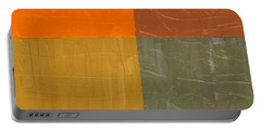 Orange And Grey Portable Battery Charger