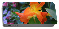 Orange And Yellow Canna Lily 2  Portable Battery Charger
