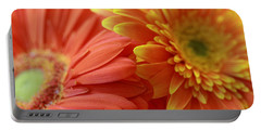 Orange And Yellow Daisies Portable Battery Charger by Angela Murdock