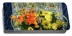 Portable Battery Charger featuring the photograph Orange And Yellow Delights by Nancy Lee Moran
