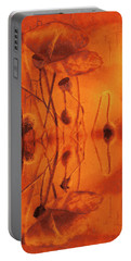 Portable Battery Charger featuring the digital art Orange And Yellow Poppies by Fine Art By Andrew David