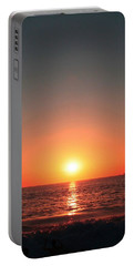 Orange Arched Sunset On Waves Portable Battery Charger