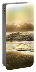 Portable Battery Charger featuring the photograph Orange Beach Sunrise With Wave by John McGraw