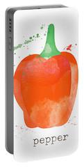 Orange Bell Pepper  Portable Battery Charger
