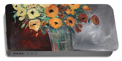Orange Blossoms Portable Battery Charger by Terri Einer