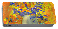 Orange, Blue, And Gold Sparkling Bouquet Portable Battery Charger