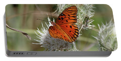 Orange Butterfly Portable Battery Charger