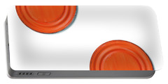 Orange Can Lid Times Two Portable Battery Charger