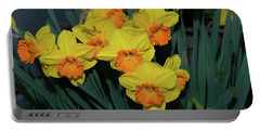 Orange-centered Daffodils Portable Battery Charger