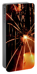 Orange Chetola Fireworks Portable Battery Charger by Meta Gatschenberger
