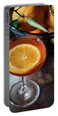 Orange Cocktail Portable Battery Charger by Happy Home Artistry