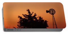 Orange Dawn With Windmill Portable Battery Charger