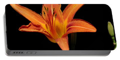 Orange Day-lily Portable Battery Charger