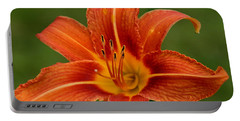 Orange Day Lily No.2 Portable Battery Charger