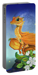 Portable Battery Charger featuring the digital art Orange Dragon by Stanley Morrison